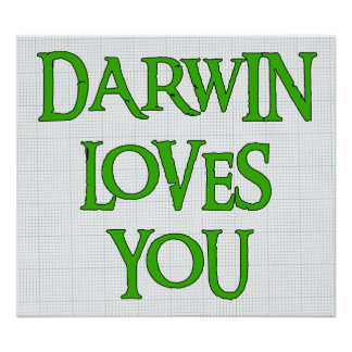 Darwin Loves You Poster