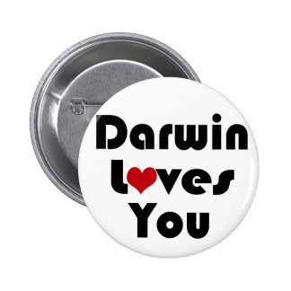 Darwin Lves You 6 Cm Round Badge