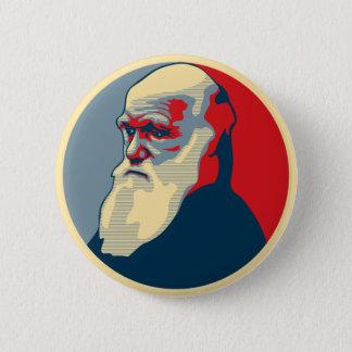 Darwin, no text 6 cm round badge