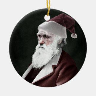 Darwin Santa Claus Round Ceramic Decoration