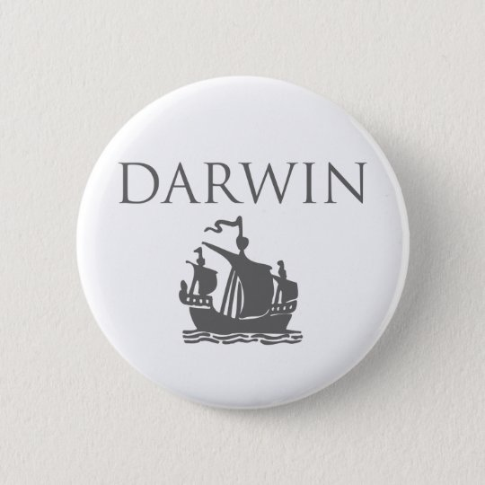 Darwin & Ship 6 Cm Round Badge