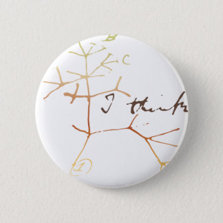 Darwin tree of life: I think 6 Cm Round Badge