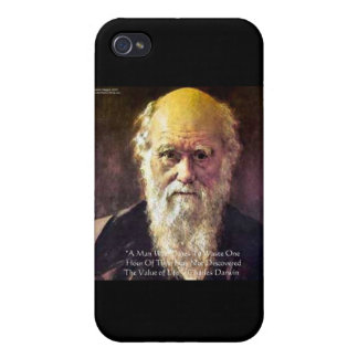 """Darwin """"Value Of Life"""" Wisdom Quote Gifts & Cards iPhone 4/4S Cases"""