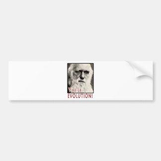 Darwin - Viva La Evolution! Bumper Sticker