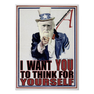 Darwin Wants You Poster