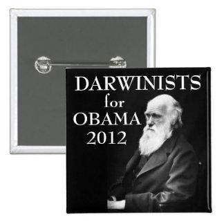 Darwinists for Obama 15 Cm Square Badge