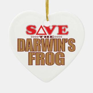 Darwins Frog Save Christmas Ornament