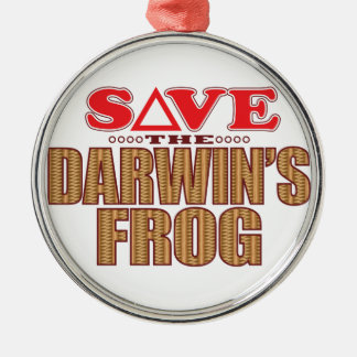 Darwins Frog Save Christmas Ornament