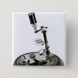 Darwin's microscope 15 cm square badge