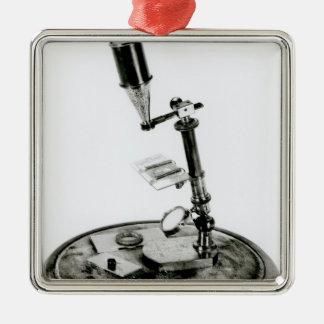 Darwin's microscope christmas ornament