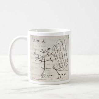darwin's notebook coffee mug
