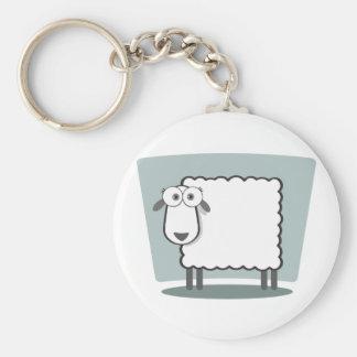 Das Schaf zum Quadrat Basic Round Button Key Ring