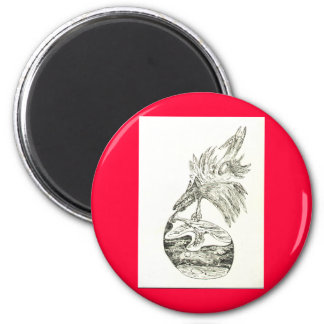 Das Tier 6 Cm Round Magnet