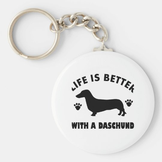 daschund dog design key ring