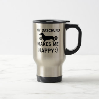 Daschund dog designs travel mug