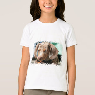 Daschund Dog Girl's T-Shirt