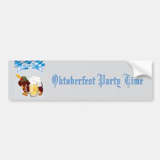 Daschund Oktoberfest Bumper Sticker
