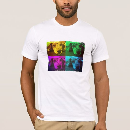 Daschund pop art puppy T-shirt