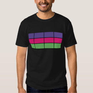 """DASCK_TOP"" Purple, Pink, & Green Square Patter T Shirt"