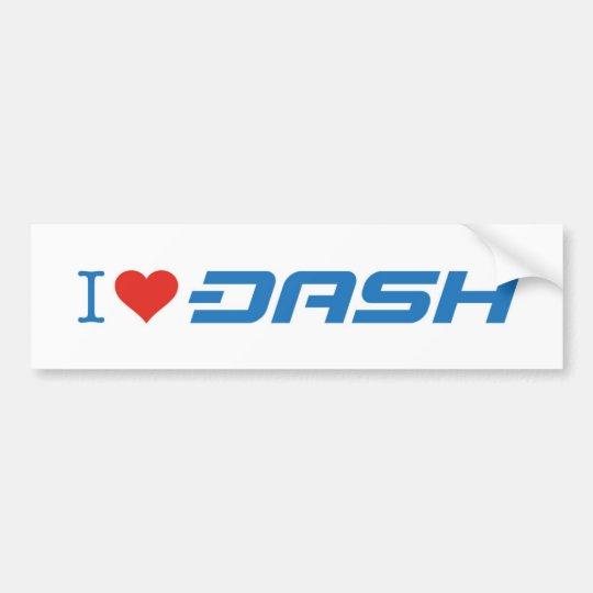 Dash Bumper Sticker