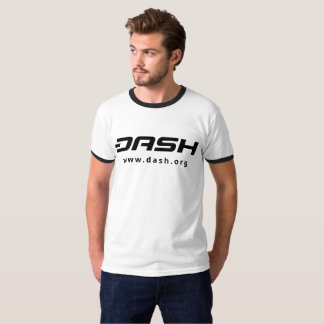 DASH Mens Ringer Black T-Shirt
