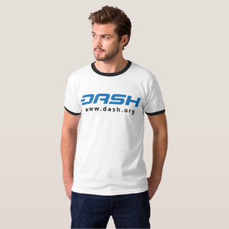 DASH Mens Ringer Blue T-Shirt