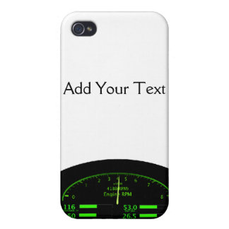 Dashboard Glow with Black Frame iPhone 4 Cases