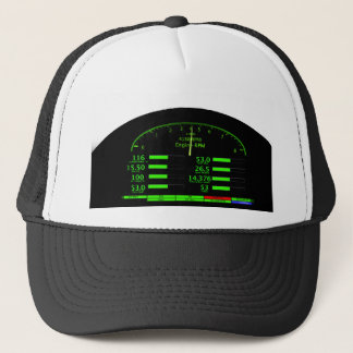 Dashboard Glow with Black Frame Trucker Hat