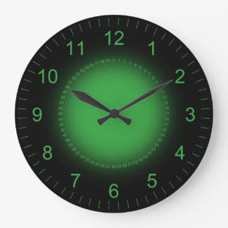 Dashboard Green Large Clock