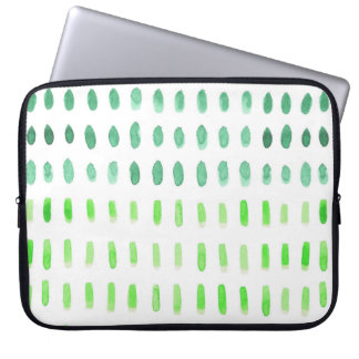 Dashed in Green Laptop Sleeve