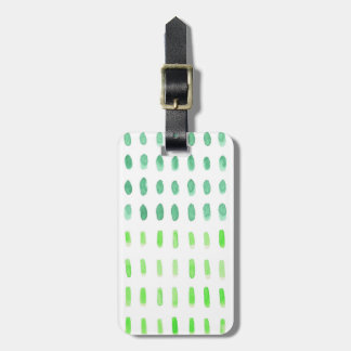 Dashed in Green Luggage Tag