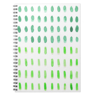 Dashed in Green Spiral Notepad Note Book