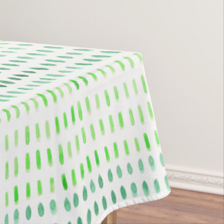 Dashed in Green Watercolour Pattern Tablecloth