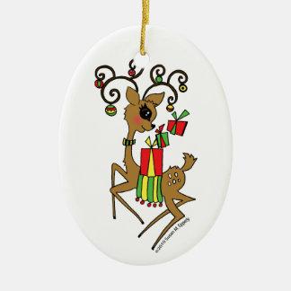Dasher Christmas Ornament