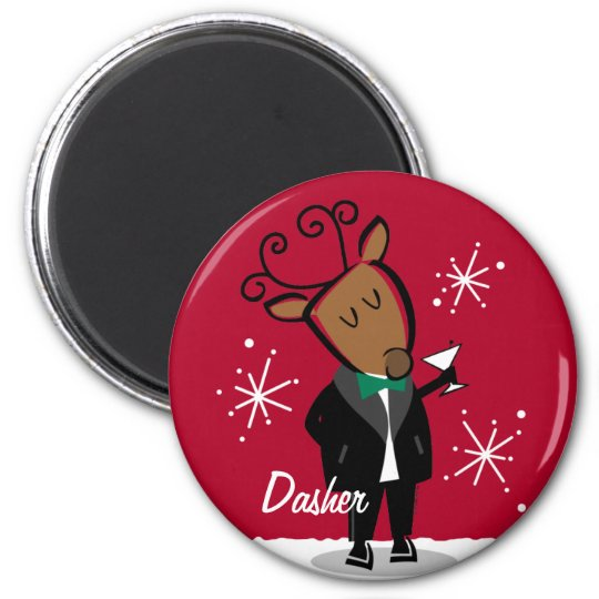 Dasher Reindeer Custom Magnet