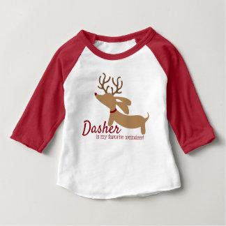 Dasher the Weindeer Dachshund Christmas Shirt