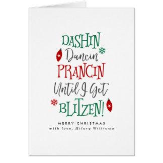 Dashin Dancin Prancin Christmas Card