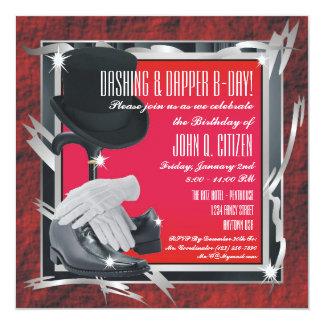 Dashing Custom 5.25 X 5.25 Invitations - Red
