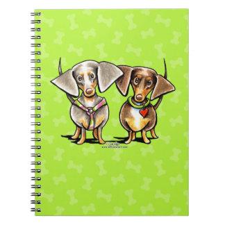 Dashing Dappled Dachshunds Notebook