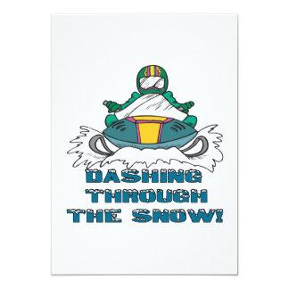 """Dashing Through The Snow 3 5"""" X 7"""" Invitation Card"""