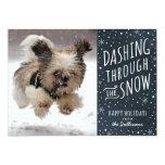 Dashing Through the Snow Holiday Pet Card 13 Cm X 18 Cm Invitation Card