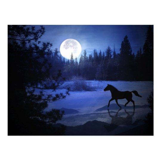 Dashing through the snow horse Christmas postcard