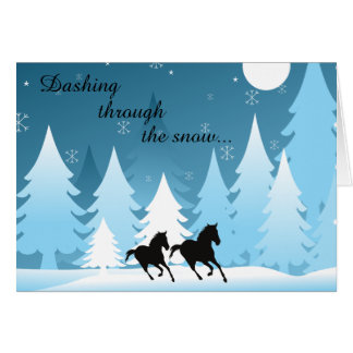 Dashing Through the Snow ~ Horse Holiday Christmas Greeting Card