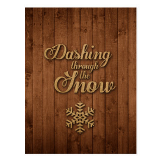 Dashing Through the Snow Postcard