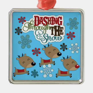 Dashing Throw The Snow Christmas Ornament