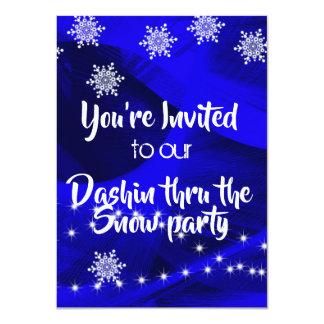 Dashing thru the snow Christmas part invitation