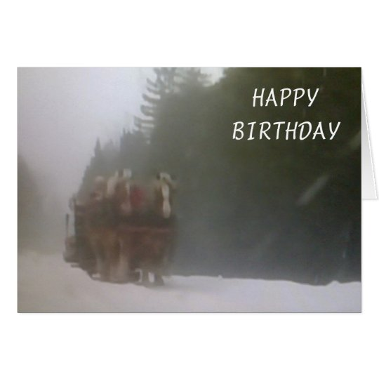 DASHING TO SAY HAPPY BIRTHDAY CARD