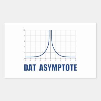 Dat Asymptote Rectangular Sticker