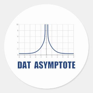 Dat Asymptote Round Sticker