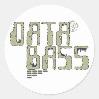 Data Bass Round Sticker